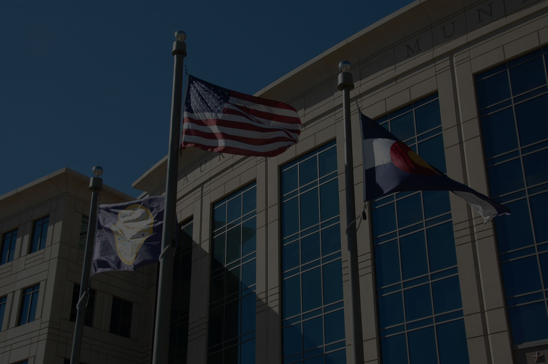 flags outside Federal office