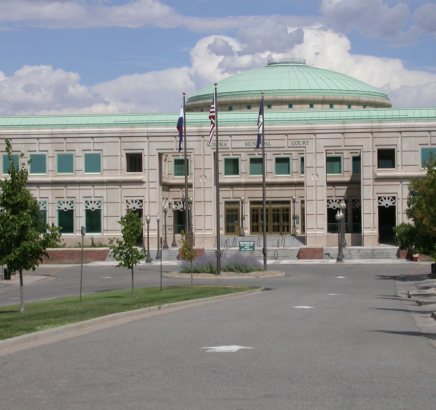 Outside view of court